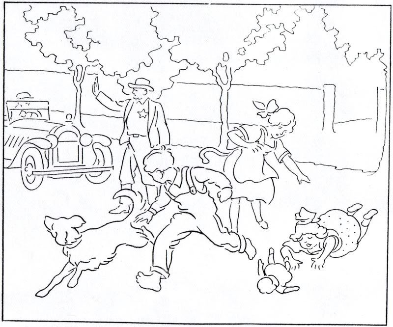 Childrenobeying colouring pages page 2