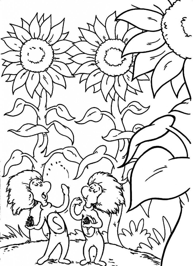 Dr. Seuss Printable Coloring Pages - Coloring Home