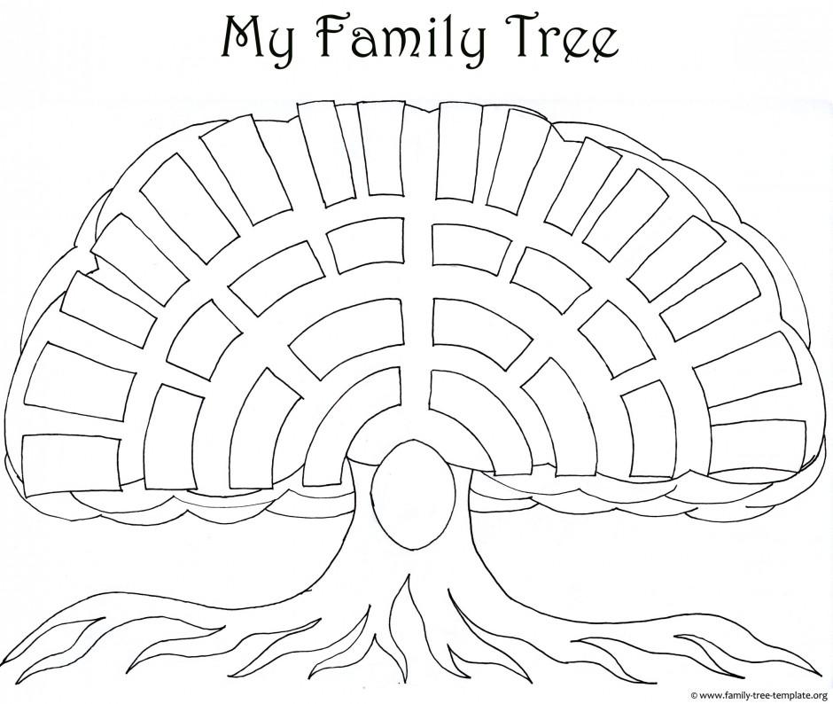 Family Tree Map Template Family Tree Templates Amp