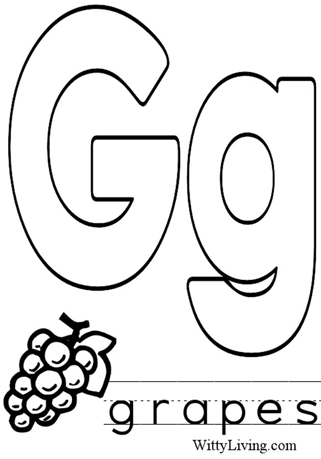 Image Result For Lowercase G Coloring Page