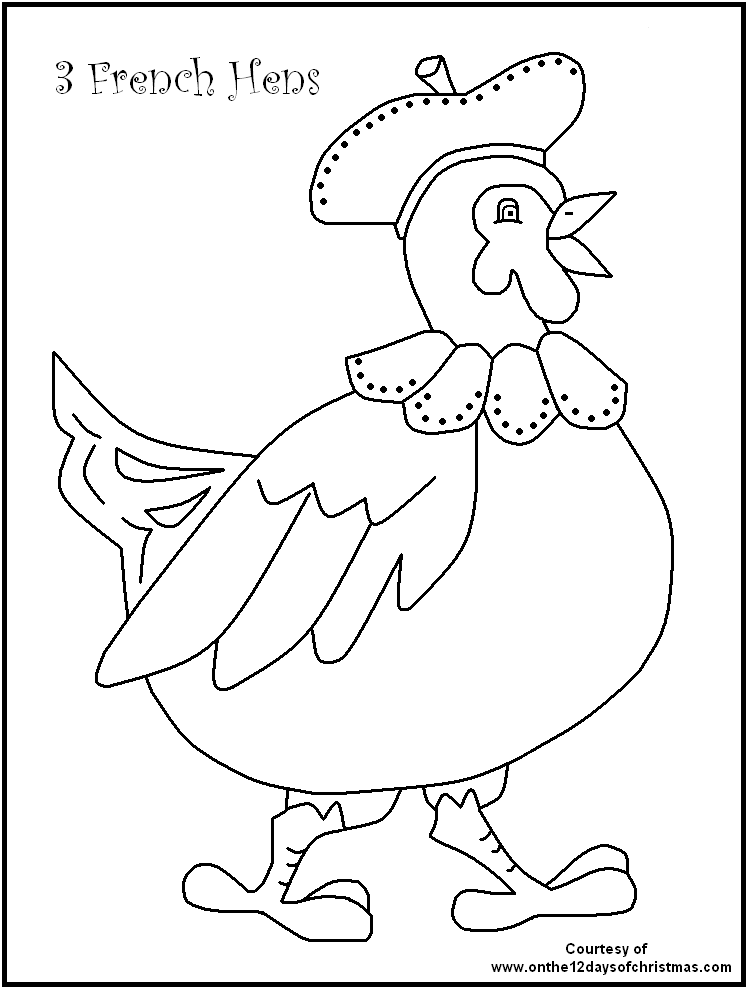 Twelve Days Of Christmas Coloring