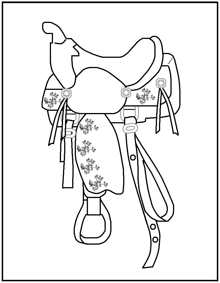 coloring rodeo pages - photo#9
