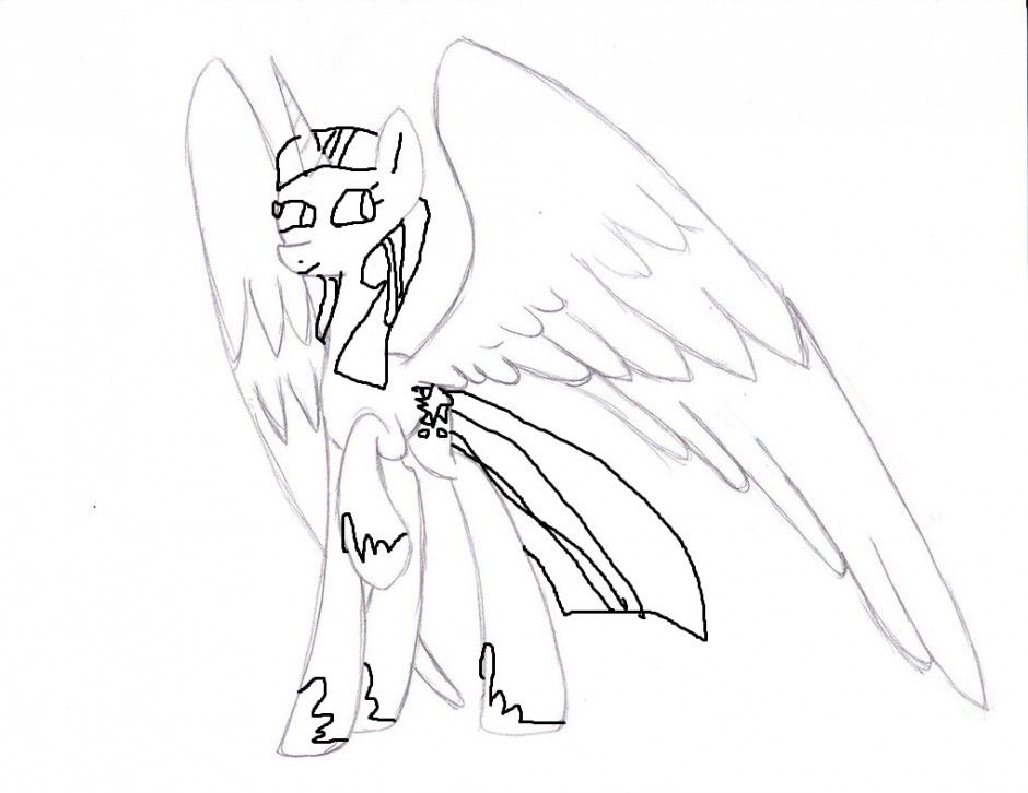 princess twilight sparkle coloring page by creeperexplosion11 on - Twilight Sparkle Coloring Pages