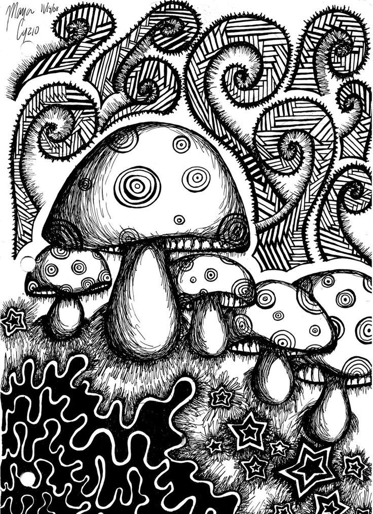 Trippy Coloring Book Pages