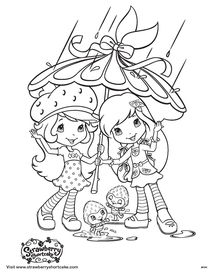 Printable Strawberry Shortcake Coloring Pages