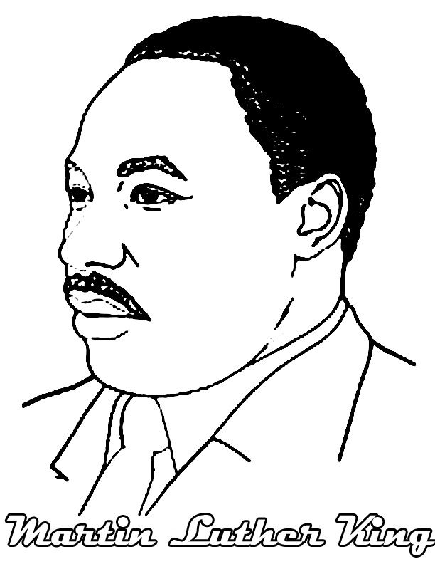 Face Of Martin Luther King Jr Coloring Pages - Figure Coloring ...