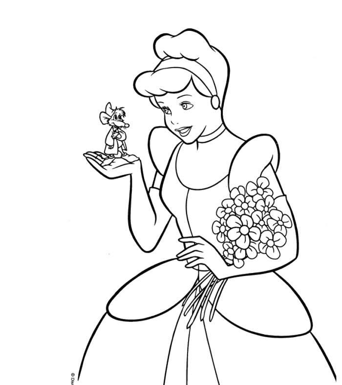 cinderella mice coloring pages az coloring pages