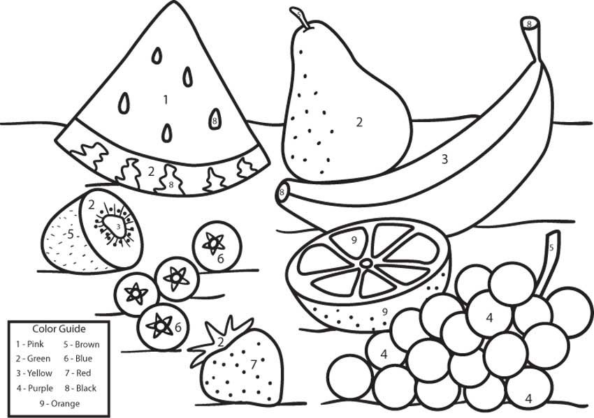 Fruit Coloring By Number