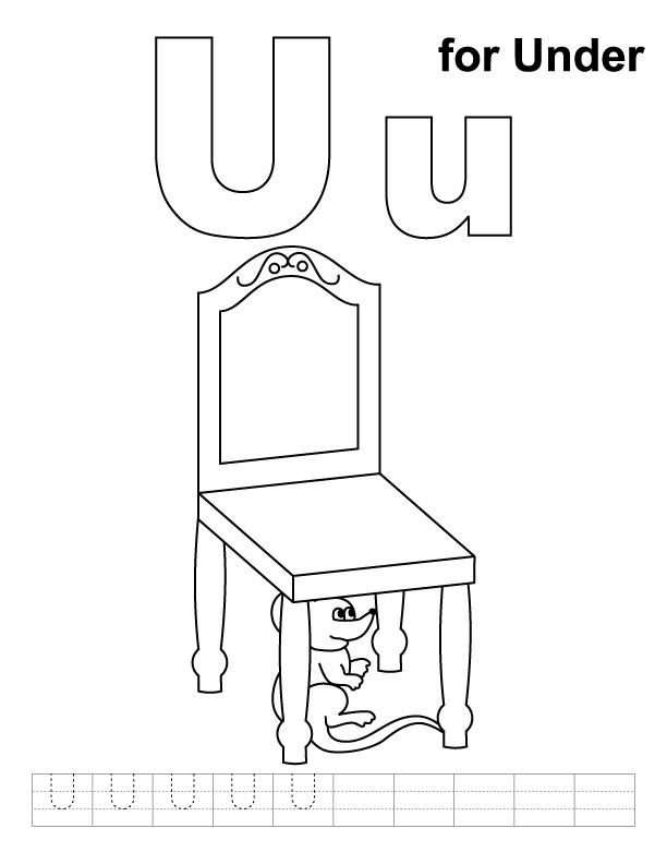 Letter U Coloring Page Az Coloring Pages I U Coloring Pages