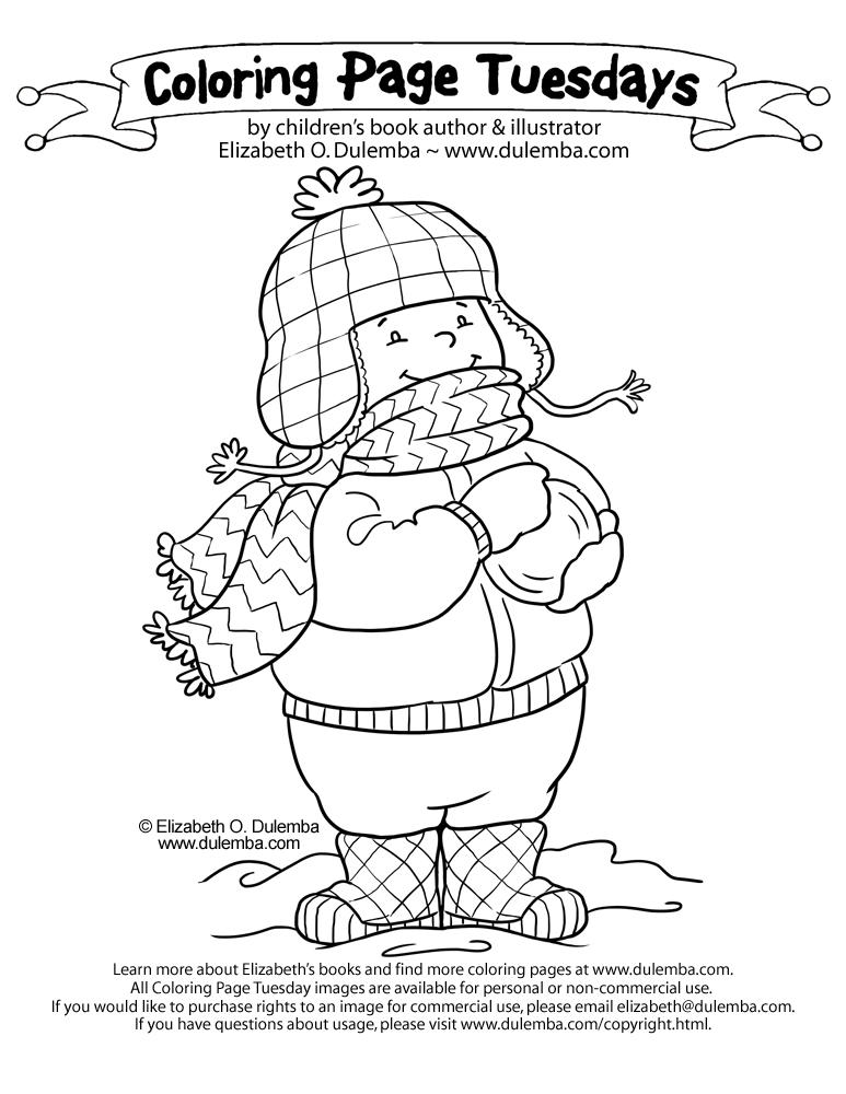 dulemba: Coloring Page Tuesday - Bundle up!