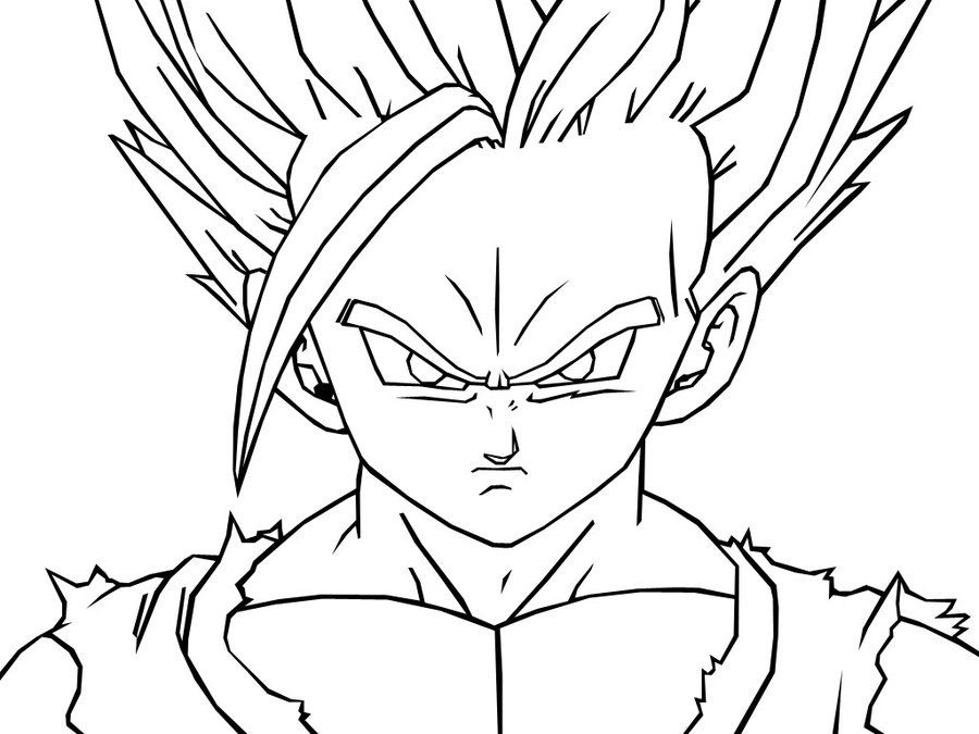 dragon ball z free coloring pages - easy dragon ball z drawings az coloring pages