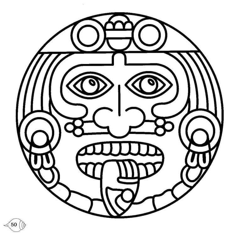 Aztec Calendar Coloring Page Az Coloring Pages Aztec Calendar Coloring Page