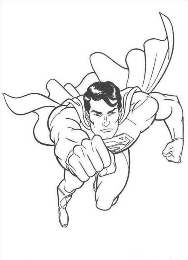 Great Superman Coloring Page Coloringplus 49958 Superman Color Pages