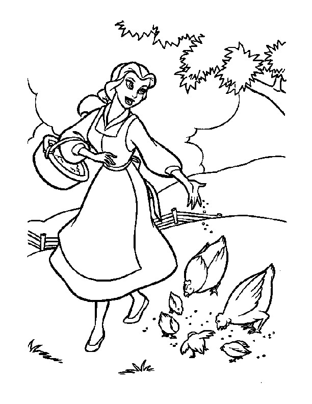 Belle Coloring Pages Pdf : Coloring pages cartoon � beauty and the beast