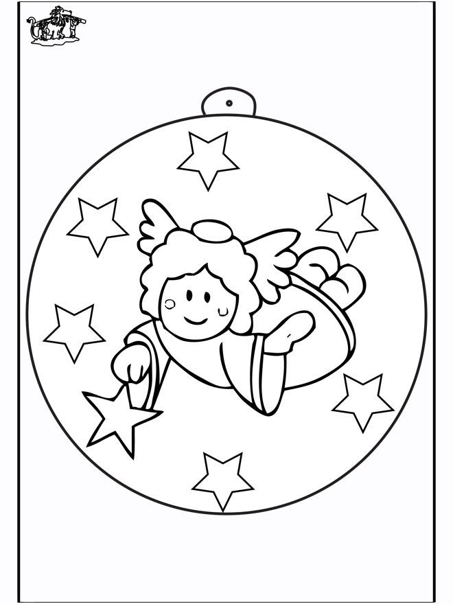 Angel Coloring Pages Pdf : Christmas ball with angel adult and children s