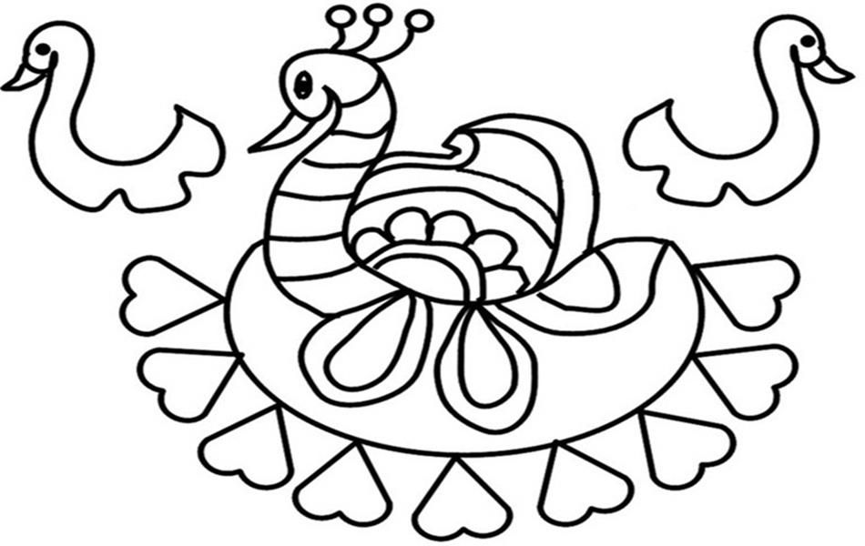 Rangoli Coloring Pages For Adults : Rangoli coloring pages az