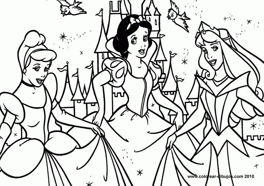 Print Out Princess Coloring Pages | Bulbulk Com