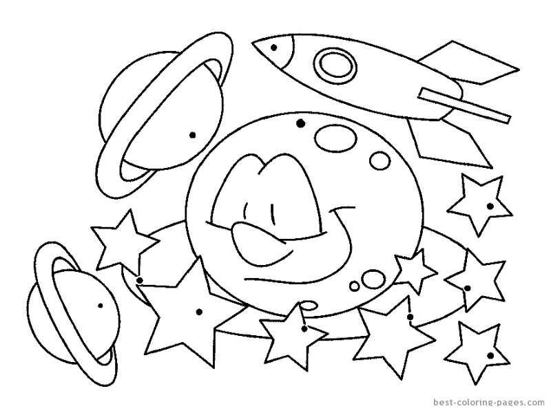 coloring pages on space - photo#2