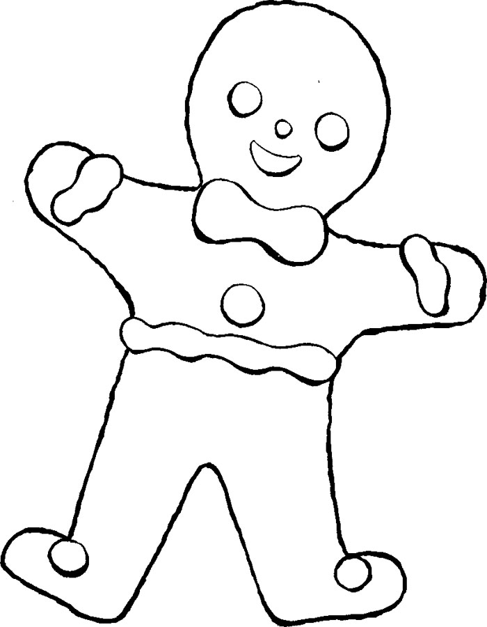 gingerbread coloring page - photo #24