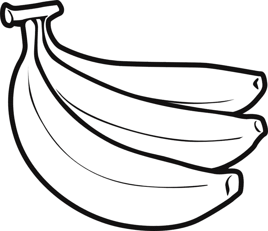 Line Drawing Banana : Banana coloring page az pages