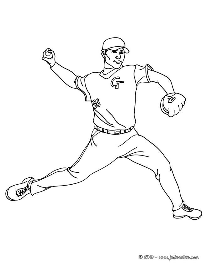 baseball player coloring pages - photo#15