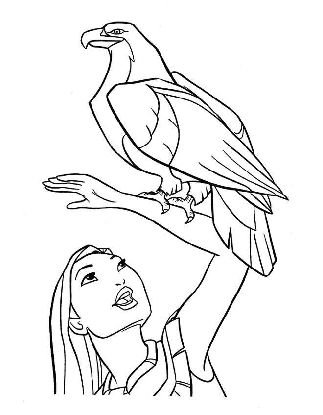 coloring pages pocahontas - photo#10