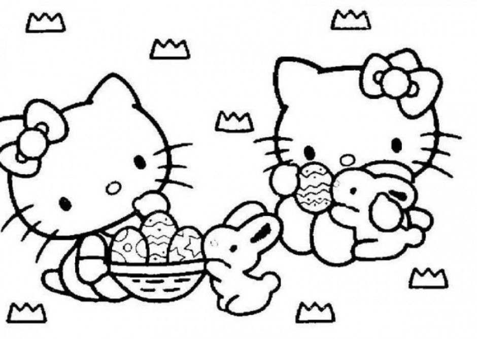 Sunny Day Coloring Pages Hello Kitty On The Beach Coloring Pages
