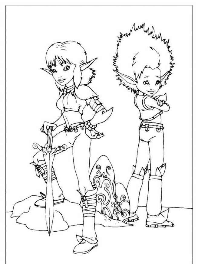 Arthur And Minimoys - AZ Coloring Pages