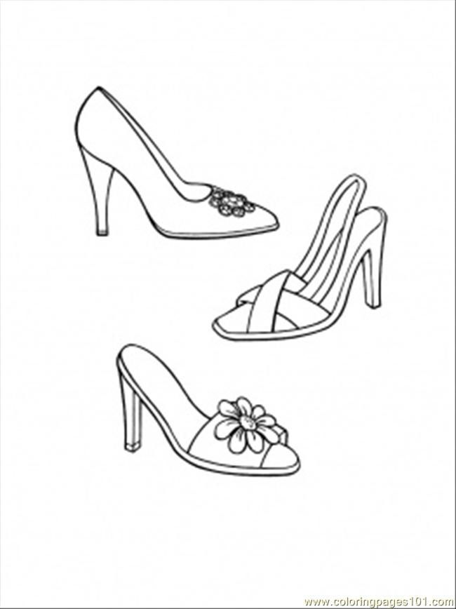 all shoes Colouring Pages