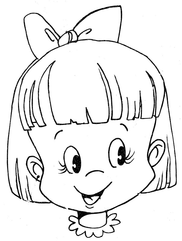 Minnie Mouse Face Coloring Pages