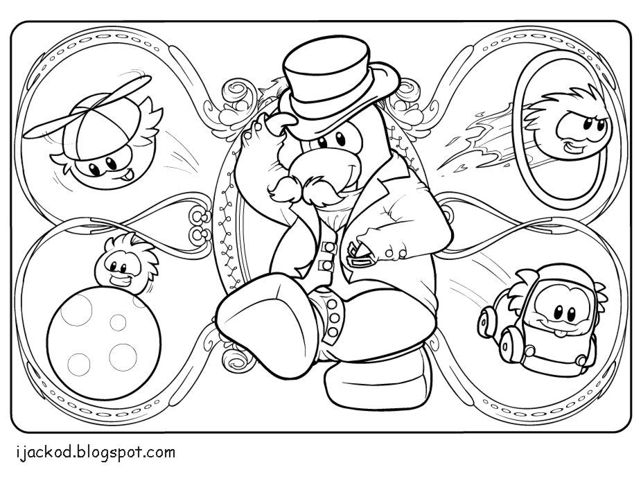 Club penguin coloring pages free coloring pages for kidsfree for Club penguin christmas coloring pages