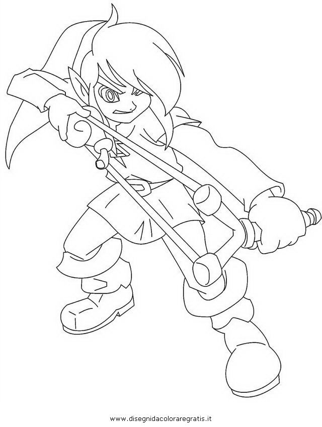 Toon Link Coloring Pages - Coloring Home