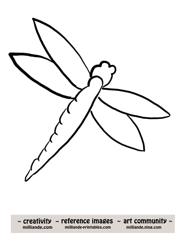 Cute Dragonfly Outline Cute Dragonfly