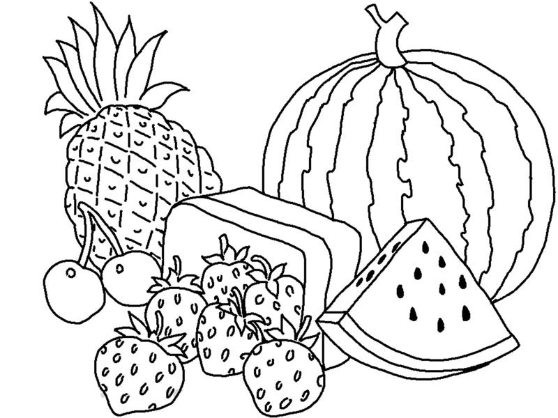 Fruit And Vegetables Coloring Pages Az Coloring Pages Fruit And Vegetable Coloring Pages