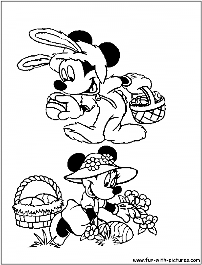mickey mouse easter coloring pages | Mickey Mouse Easter Coloring Pages - Coloring Home
