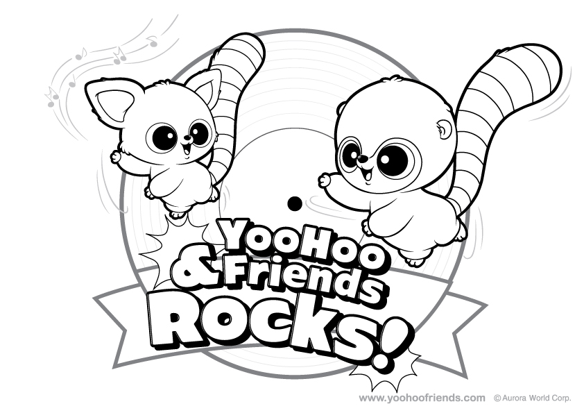 Yoohoo and Friends Colouring Pages (page 2)