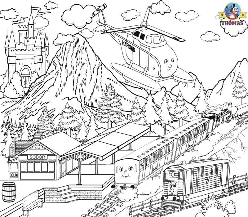 Thomas The Train Pictures To Color - Coloring Home