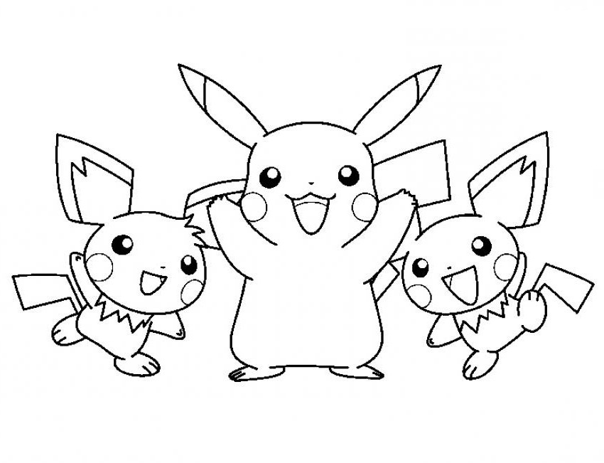 Pichu coloring pages az coloring pages for Pichu coloring pages