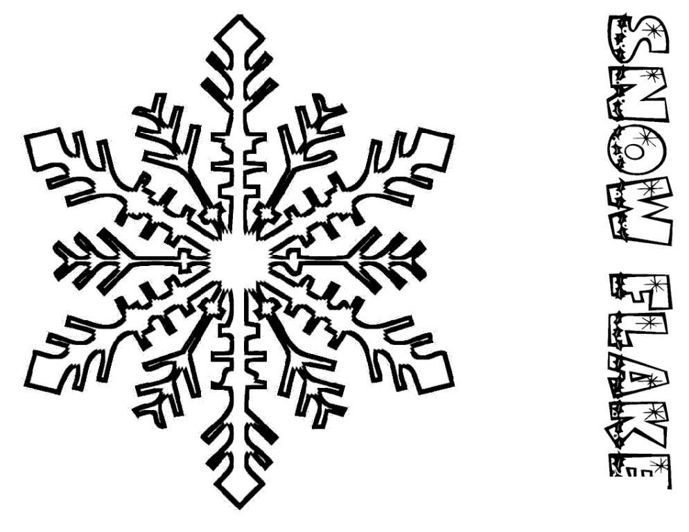 Snowflake coloring pages for kids christmas