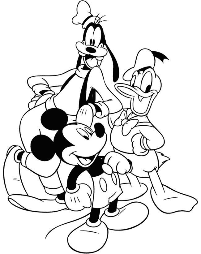 Disney Coloring Pages Mickey Mouse And Friends : Coloring pages of mickey mouse and friends az