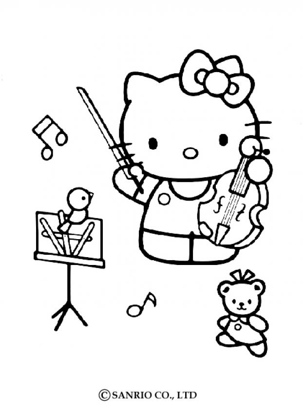 MUSICAL INSTRUMENT coloring pages - Violin