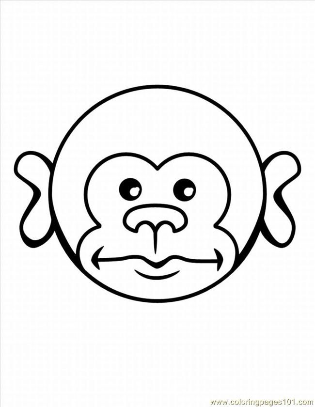 Coloring Pages E Monkey Coloring Pages 5 Lrg Mammals Gt Monkey