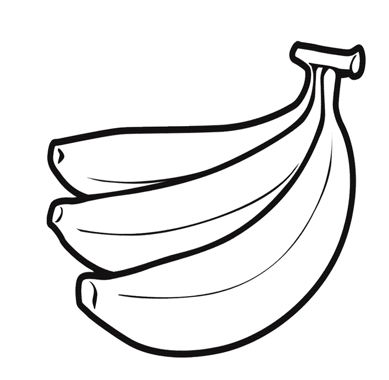 Line Drawing Banana : Banana color page az coloring pages