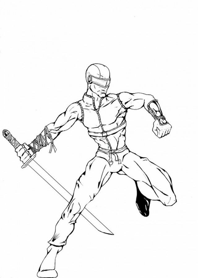 Gi Joe Snake Eyes Coloring Pages