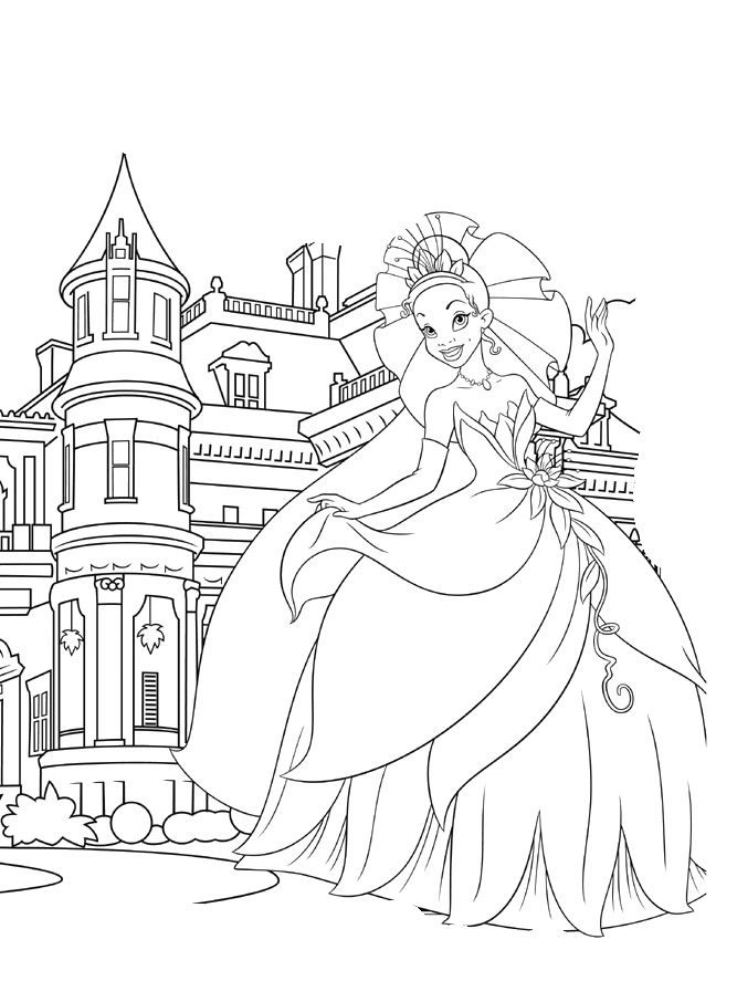 Princess And The Frog Coloring Pages To Print Az Princess Palace Coloring Pages Printable