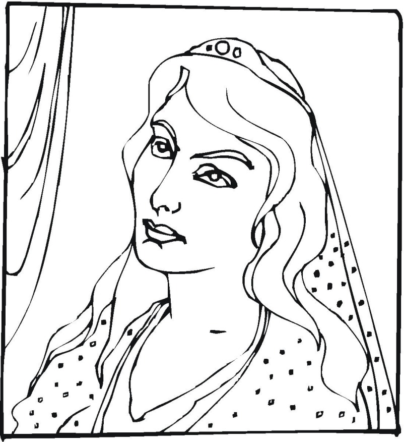 Queen Esther Coloring Page AZ