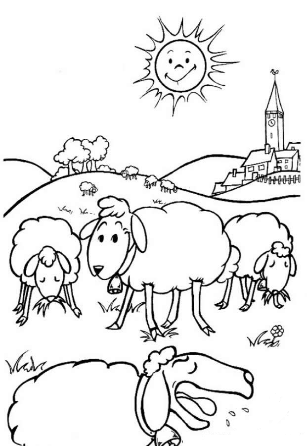 Farm animals coloring pages for kids coloring home for Printable farm coloring pages