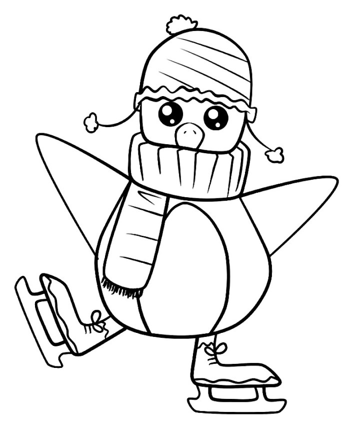 Cute Penguin Coloring Pages Az Coloring Pages Free Coloring Pages Of Penguins