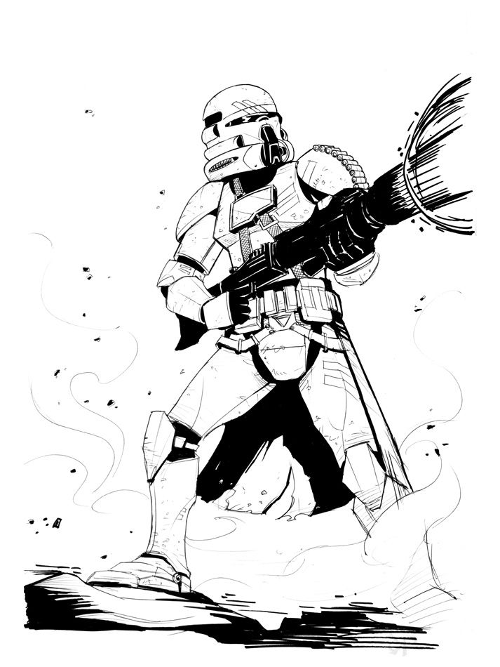 clone trooper Coloriage