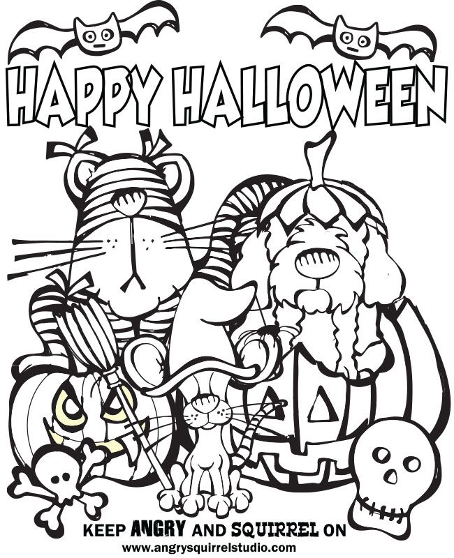 Trick Or Treat Coloring Page Az Coloring Pages Trick Or Treat Coloring Page